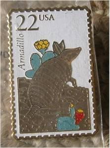 Wildlife Armadillo  stamp pin lapel pins hat 2296 S