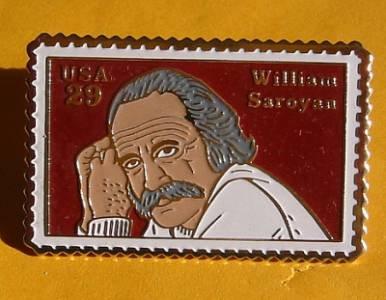 William Saroyan Stamp Pin lapel pins hat tie tac 2538 s
