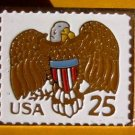 American Eagle Shield stamp pin lapel pins hat 2431