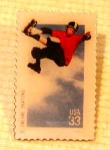 Inline Skating Stamp Pin collectible lapel pins 3324 s