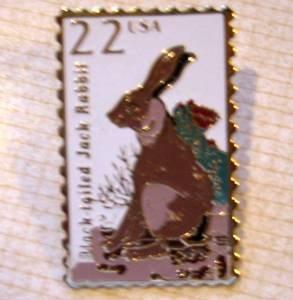 Black-tailed Jack Rabbit Wildlife stamp pin lapel 2305