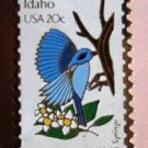 Idaho Mountain Bluebird Syringa ID stamp pin lapel pins 1964 s