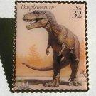 Daspletosaurus Dinosaur stamp pin lapel pins hat 3136k S