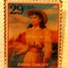 Annie Oakley Stamp Pin hat lapel pins tie tac new 2869d S