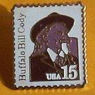 Buffalo Bill Cody Stamp Pin lapel pins hat tie tac 2178 s