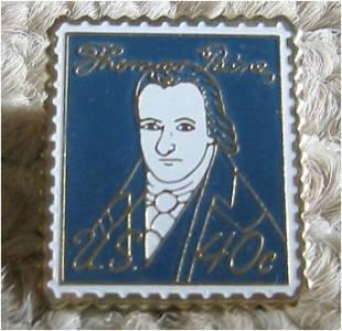 Thomas Paine stamp pin lapel pins tie tac hat 1292