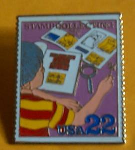 Stamp Collecting Cover Stamp pin lapel pins hat 2199
