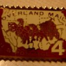 Overland Mail stamp pin lapel pins hat tie tac new 1120