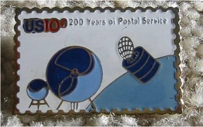 USPS Satellite Mailgrams stamp pin lapel pins 1575