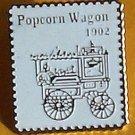 Popcorn Wagon stamp pin lapel pins hat tie tac 2261 s