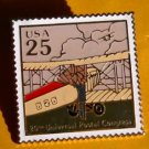 Mail Transportation Biplane USPS stamp pin lapel 2436