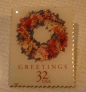 Christmas Wreath Tropical Stamp Pin lapel pins hat 3248 S