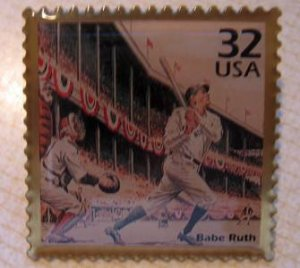 Babe Ruth CTC stamp pin lapel pins hat tie tac 3184a