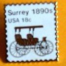 Surrey transportation stamp pin lapel pins hat new 1907