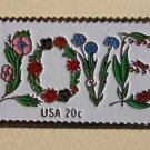 Floral Love Stamp pin lapel pins hat cloisonne 1951 S
