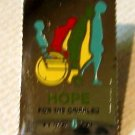 Hope for the Crippled stamp pin lapel cloisonné 1385