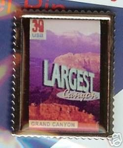Grand Canyon Largest Stamp Pin hat lapel pins 4064 S