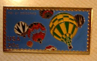 Hot Air Balloon Ravens Stamp Pin lapel pins hat 2034y