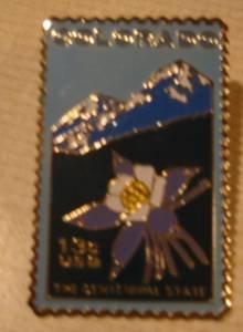 Colorado Statehood CO stamp pin lapel pins hat 1711