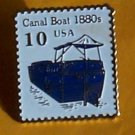 Canal Boat Stamp pin lapel pins hat collectible 2257