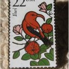 Iiwi Wildlife bird stamp pin lapel pins tie tac 2311
