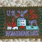 Homemakers Needlepoint stamp pin lapel pins hat 1253 S