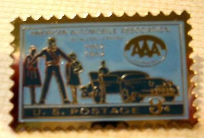 American Automobile Association lapel stamp pin 1007