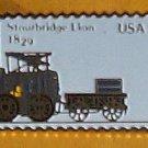 Stourbridge Lion Locomotive Stamp Pin lapel pins 2362 S