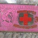 Clara Barton stamp pin Nurse cloisonne Red Cross 967 S