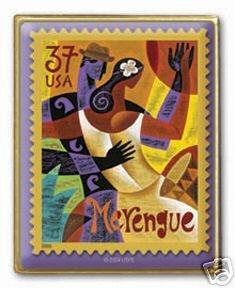 Let's Dance Merengue Bailemos stamp pin lapel hat 3939