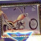 Chopper Motorcycle 70's stamp pin hat lapel pins 4087
