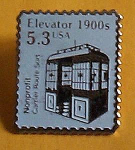 Elevator metal Stamp pin lapel pins hat  new 2254 S