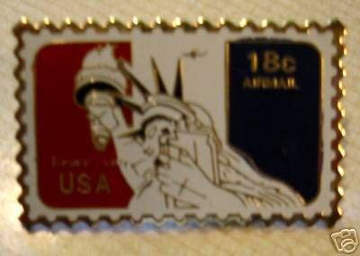Statue of Liberty stamp pin lapel pins hat tie tac C87