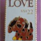 Love 1986 Stamp pin lapel pins tie tac cloisonne 2202sm S