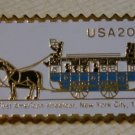 New York First Streetcar stamp pin lapel pins hat 2059 S