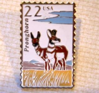 Pronghorn Antelope Wildlife stamp pin lapel pins 2313
