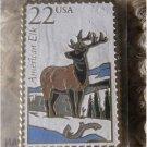 American Elk Wapiti Wildlife stamp magnet new 2328mg