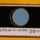 Pluto Unexplored NASA stamp pin lapel pins hat 2577 s