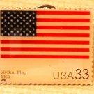 Fifty Star U.S. Flag Stamp Pin lapel pins hat 3403t s
