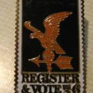 Register to Vote lapel pins stamp pin tie tac hat 1344 s
