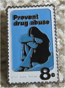 Prevent Drug Abuse stamp pin lapel pins tie tac 1438