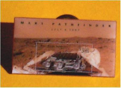 Mars Rover Pathfinder stamp pin lapel pins hat new 3178 S