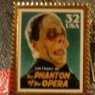 Lon Chaney Phantom Opera stamp pin lapel hat new 3168