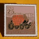 Mail Transportation Stagecoach USPS stamp pin hat 2434
