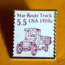 Star Route Truck Stamp Pin lapel pins hat tie tac 2125  s