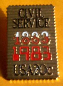 Civil Service stamp pin lapel pins hat collectible 2053 s