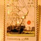 Connecticut CT stamp pin tie tac lapel pins hat 2340