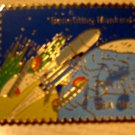 Columbia Space Shuttle NASA stamp pin lapel pins 1913