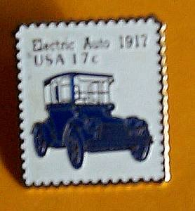 Electric Auto stamp pin lapel pins hat collectible 1906