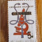 Crusade Against Cancer stamp pin lapel pins hat 1263